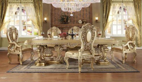 Luxury Formal Traditional 9pcs Dining Set Hd 8016 Traditional
