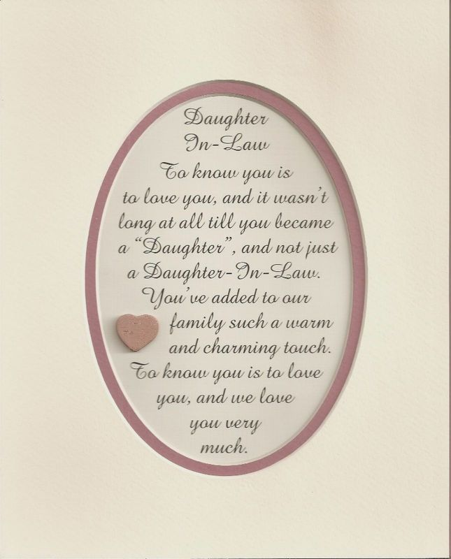 Wedding Gift Ideas For My Daughter And Son In Law : love my daughter in law To my daughter in law. Love you. My ...