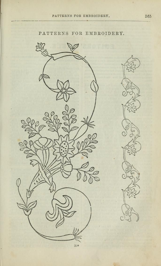 Godey S Magazine Embroidery Motifs Embroidery Flowers Embroidery Inspiration