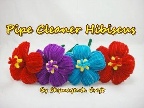 Como hacer una flor con limpiapipas - YouTube