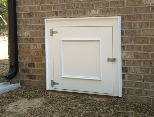 Crawl Door3 Jpg 500 380 Pixels Crawl Space Door Crawlspace Mobile Home Exteriors