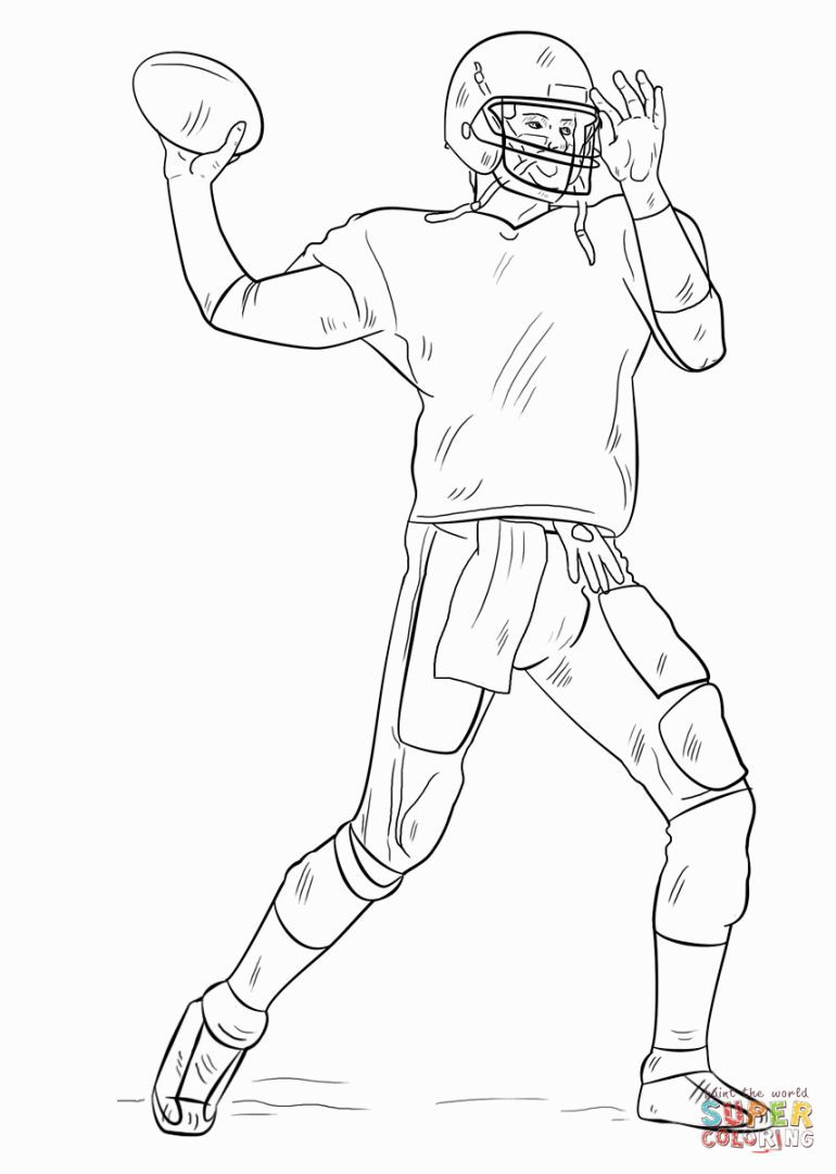 football player coloring page # 1
