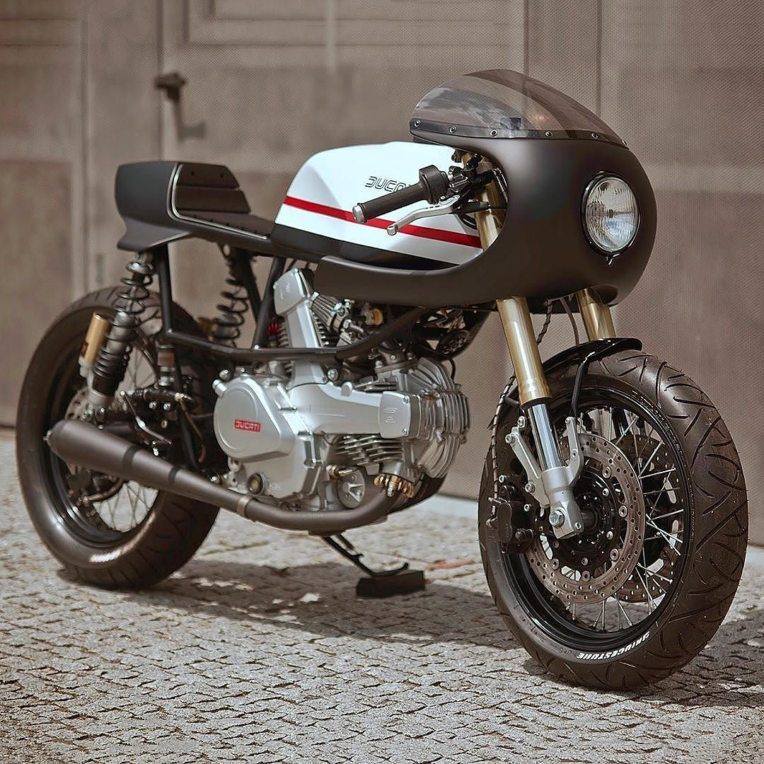 """bike-exif: """" The latest Bikes of the Week is out, and we're in love with the 'Pantah 350' from @capelosgarage of Portugal. It's actually based on a Cagiva Alazzurra, and designer Nuno Capêlo has got the lines absolutely right. Hit the link in our bio..."""