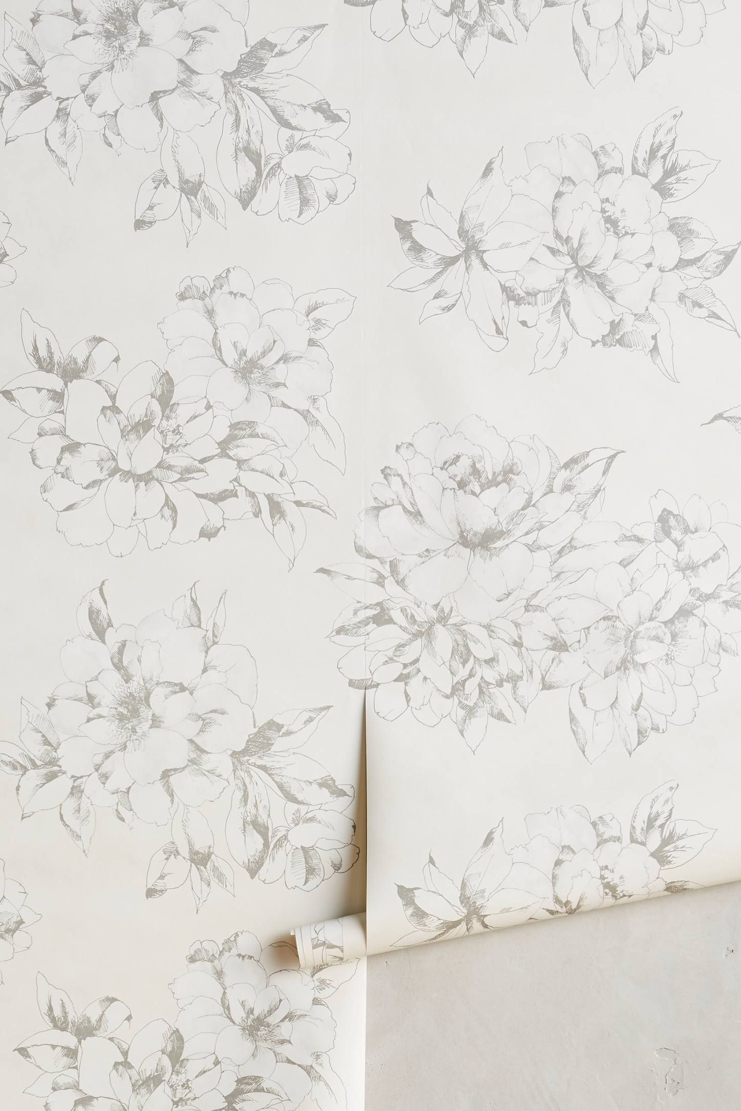 Shop the Sketched Posy Wallpaper and more Anthropologie at