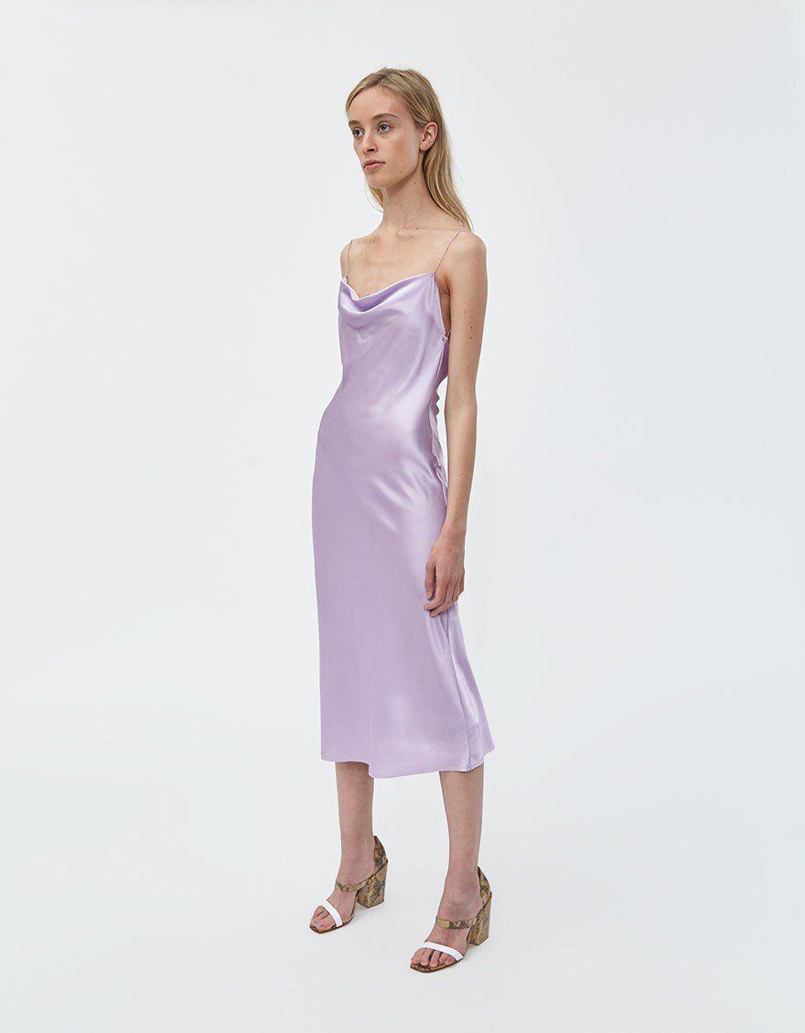 Stelen Della Slip Dress In Lilac Green Silk Dresses Trendy Cocktail Dresses Leavers Ball Dresses [ 1130 x 880 Pixel ]
