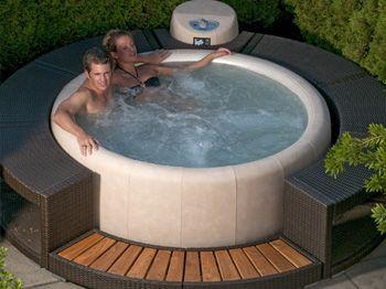 Makes A Fun And Romantic Date Night Wanne Whirlpool Garten Whirlpool Deck