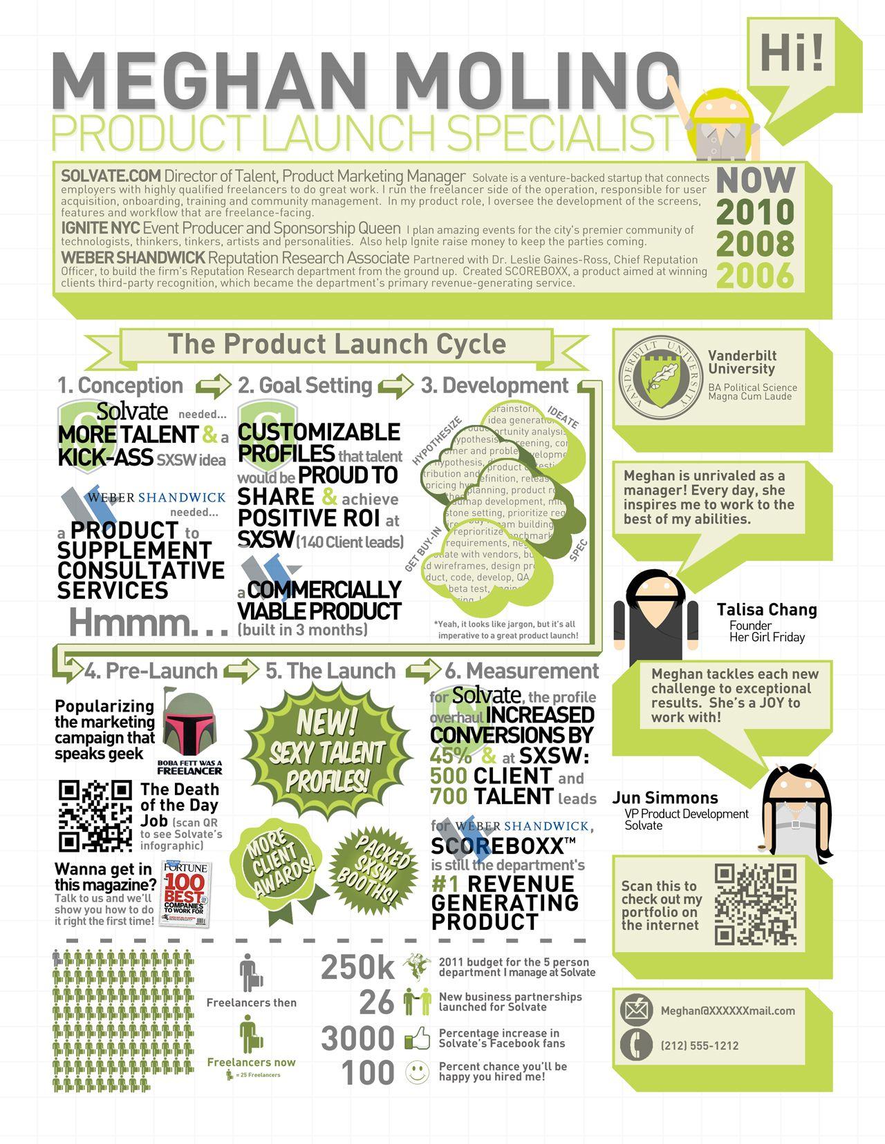 Portfolio Infographic Resume Creative Resume Resume Design