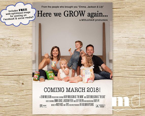here we grow again movie poster pregnancy announcement facebook