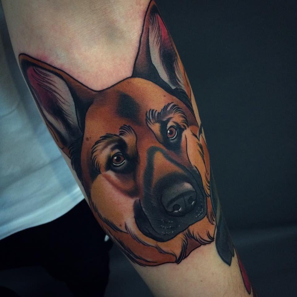 4b5aedf7181b89744670ff691614ed40 - Neo Traditional Tattoo Dog