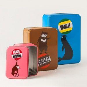 Guetzlibox Trilogie Vanille Chocolat Und Erdbeerglace