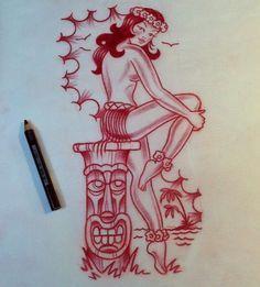 old skool hawaiian tattoos - Google Search
