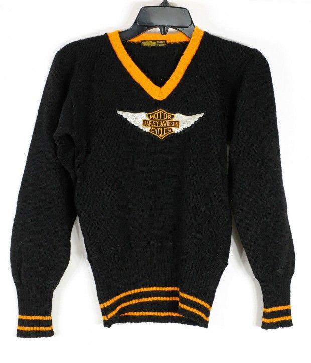Vintage Harley Davidson Sweater 1930s Front Harley Davidson