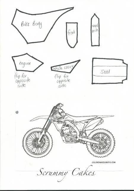 Dirt Bike Topper Tutorial Motorbike Cake Bike Cakes Motorcycle
