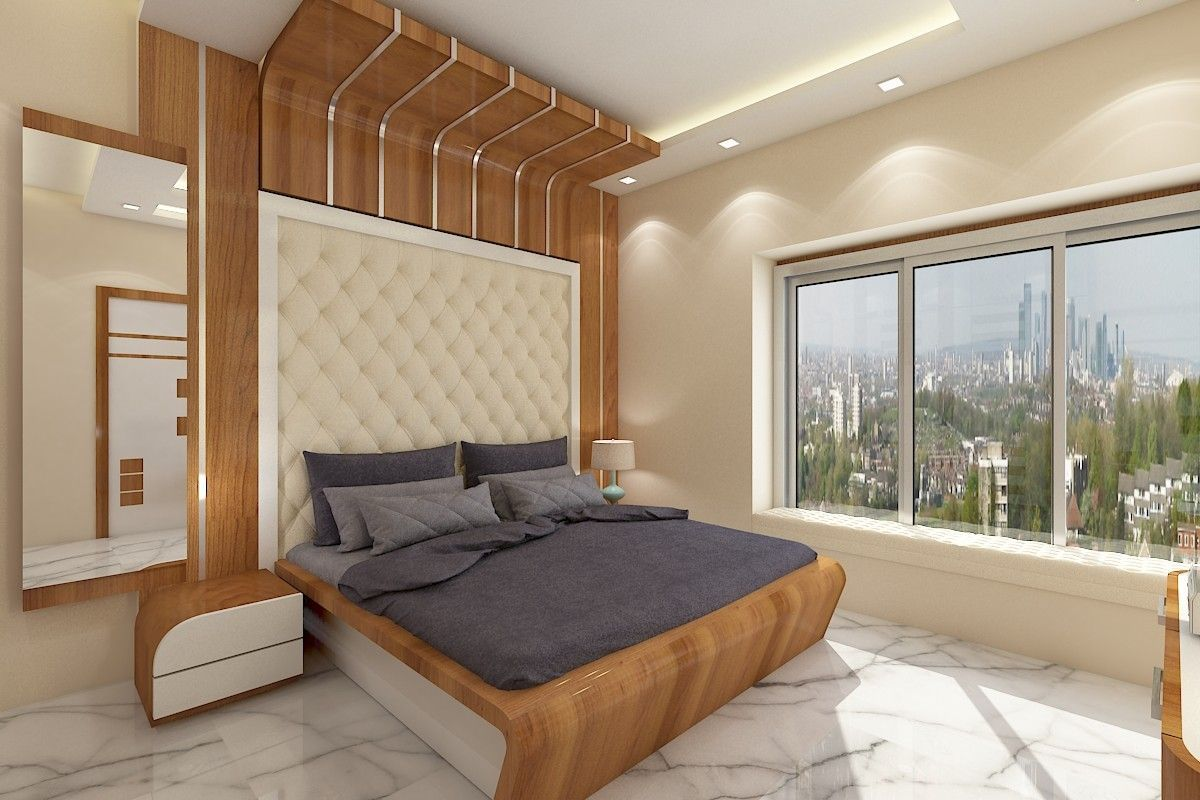 Best Wooden Bed Placed With Pu Finishes Along With Side Tables 400 x 300