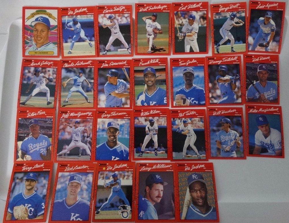 1990 donruss kansas city royals team set of 26 baseball