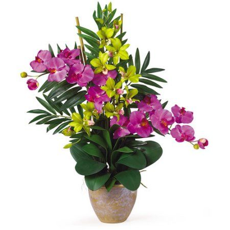 Double phaldendrobium silk flower arrangement orchidgreen silk double phaldendrobium silk flower arrangement orchidgreen mightylinksfo