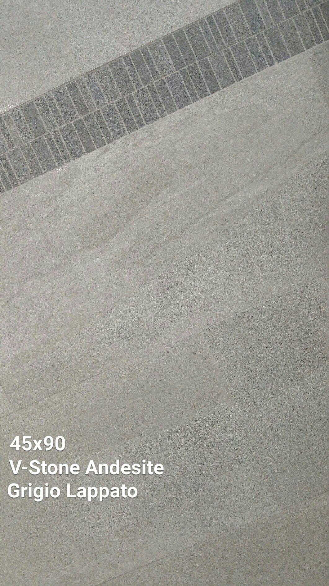 45x90 V-Stone obesidian anthracite is a glazed porcelain tile with a semi polished finish  #tiles #walltiles #floortiles #tileideas #largeformat #porcelain #bathroomdesign #kitchendesign #livingroomdesign #design #home #homedecor #homedesign #bathroomtiles #kitchentiles