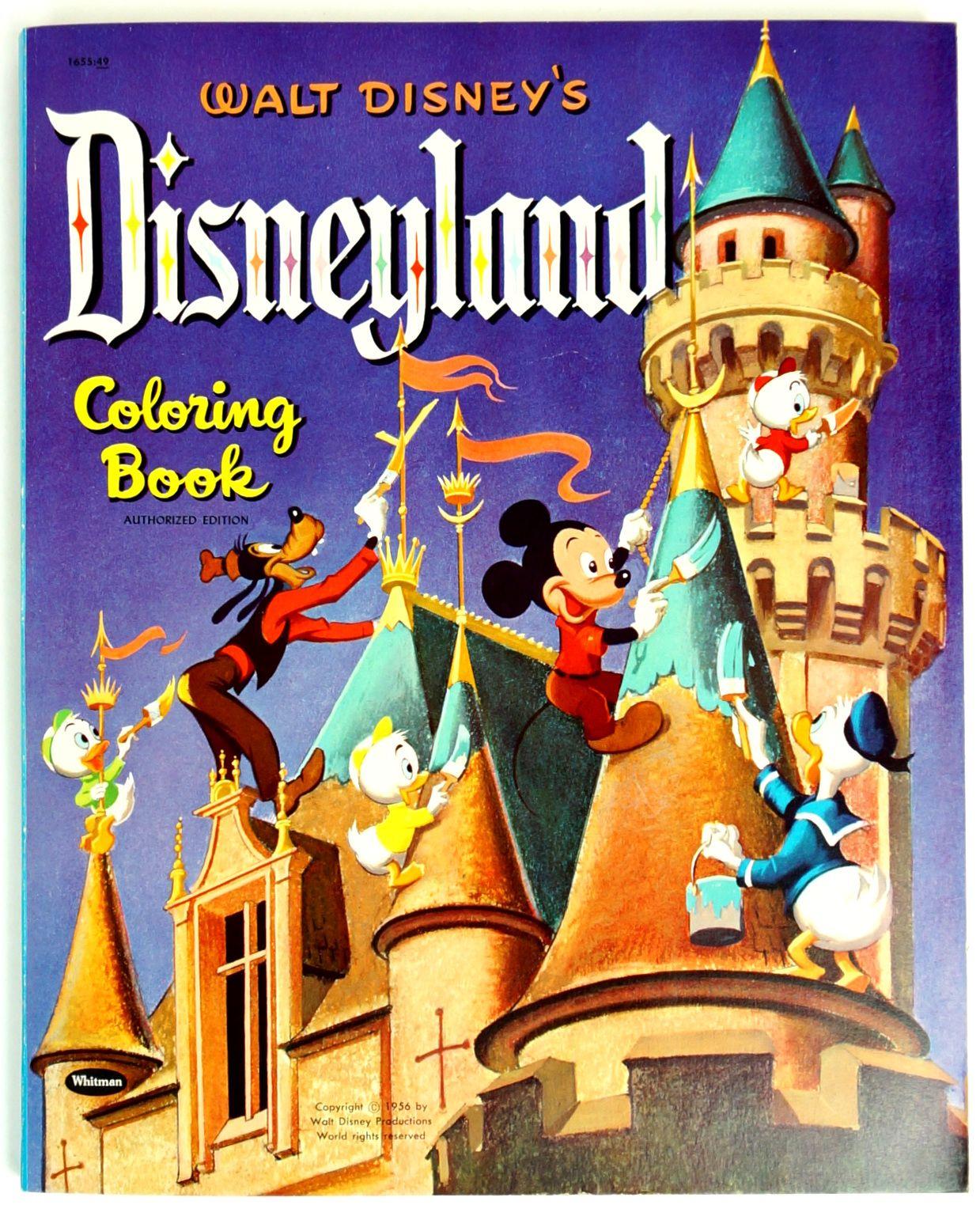 Rare Walt Disneys Disneyland Coloring Book 1956 VGC