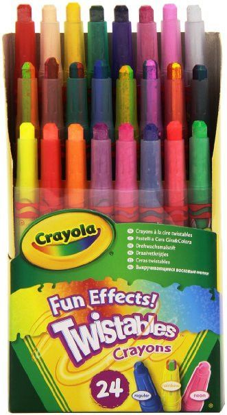 Crayola 24 Ct Twistables Fun Effect Crayons Twistable Crayons