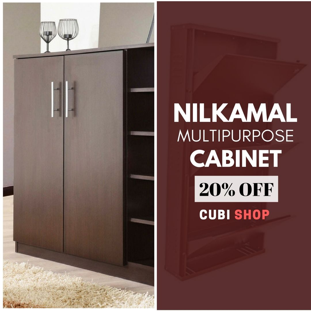 e18709fe1da Buy  Nilkamal Troy Multipurpose  Cabinet which is available in Wenge    Beech colors at offer price from  CubiShop.  almirah