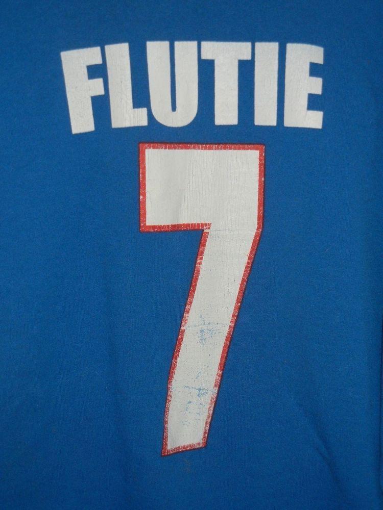 Doug Flutie Buffalo Bills size L sweatshirt Starter USA blue