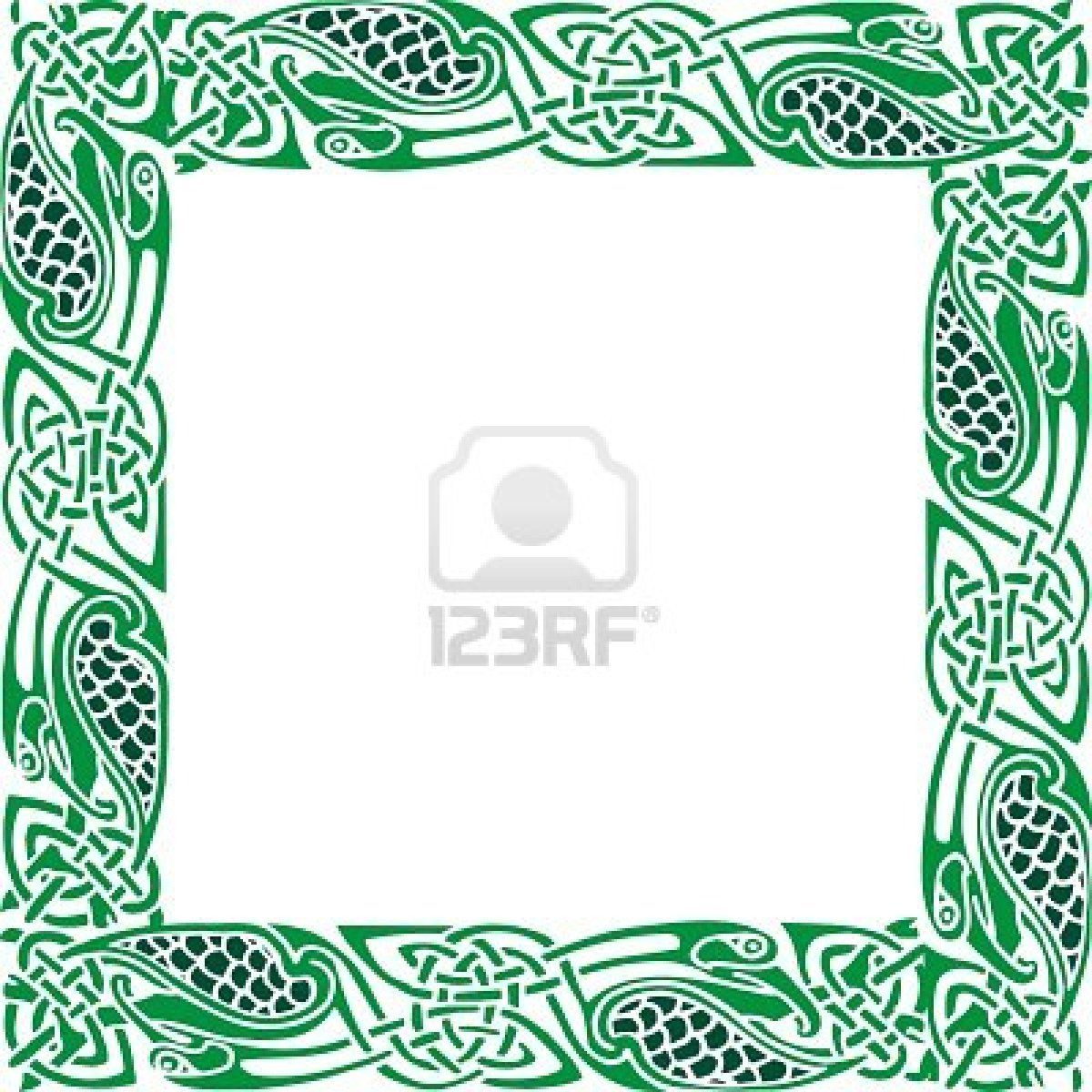 Owl greeting card set welsh artist jen delyth celtic art studio - Abstract Celtic Patterns With Flower Designs On The Border Stock Photo