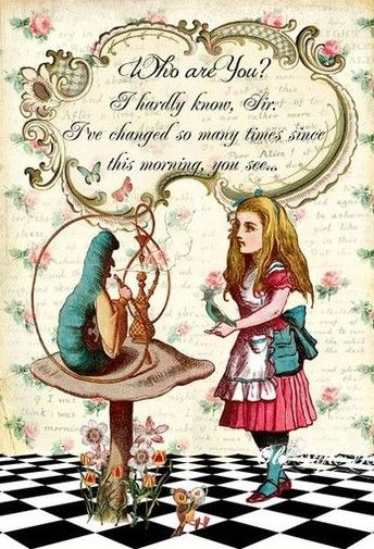Alice in wonderland We/'re All Mad Here VINTAGE ENAMEL METAL TIN SIGN WALL PLAQUE