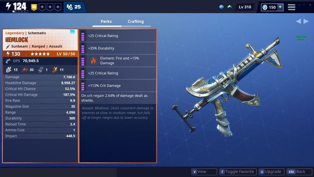 Fortnite Save The World LVL 130 Hemlock FAST DELIVERY PC/PS4