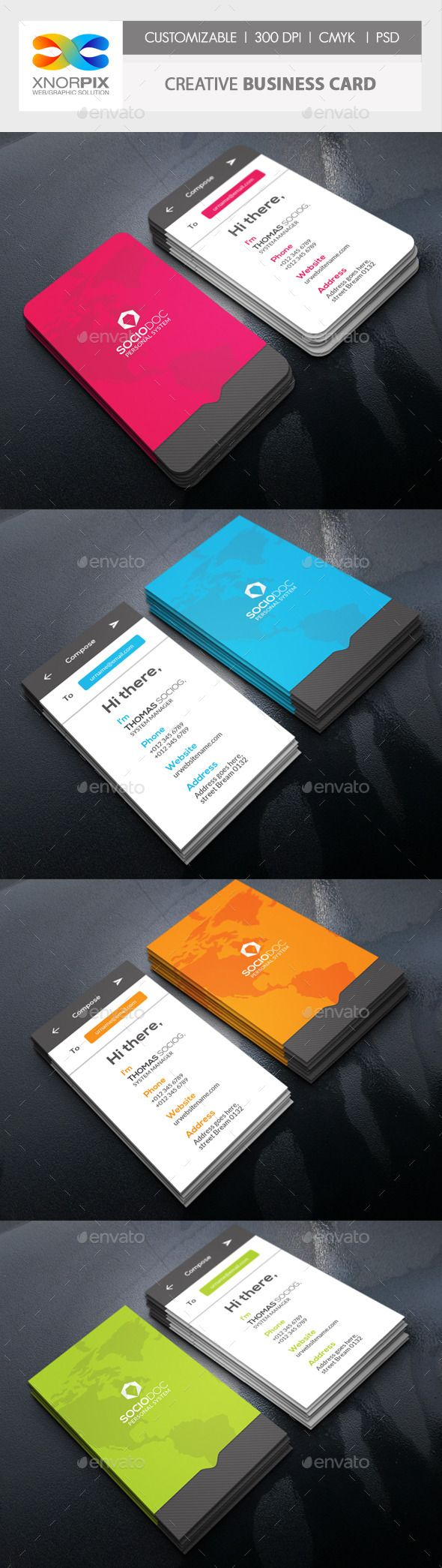 Message Business Card | Creative business cards, Messages and Business
