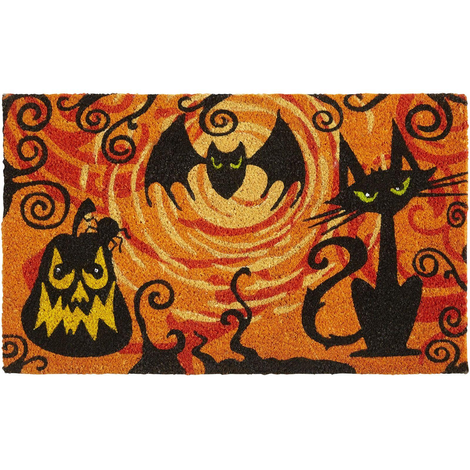 scary kitty bat doormat pier 1 imports - Pier One Halloween