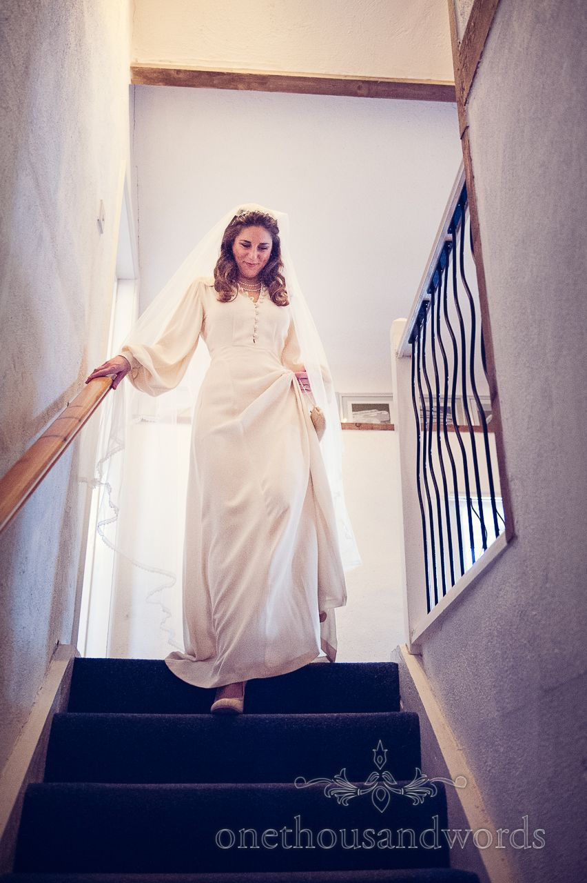 Morning wedding dresses  Bride in wedding dress on wedding morning Photography by one