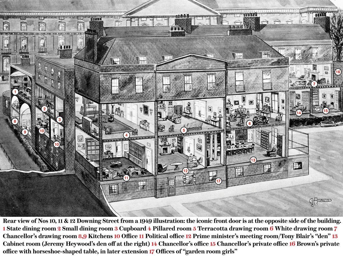 10 Downing Street Plans Pinterest Architektur