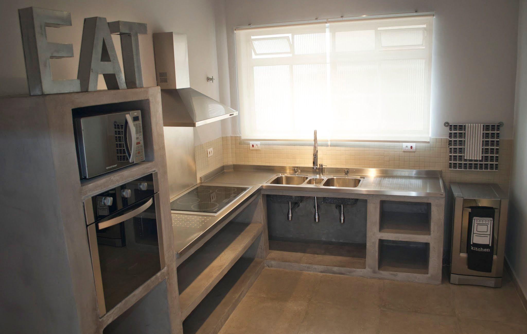 Concreto Aparente Cozinha De Concreto Cozinhas De Alvenaria