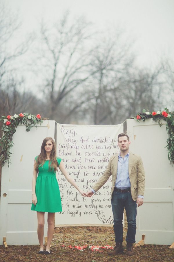 Love Letter engagement session, photo by Cassie Loree Photography http://ruffledblog.com/love-letter-engagement-session #engagementsessions #engagementshoot