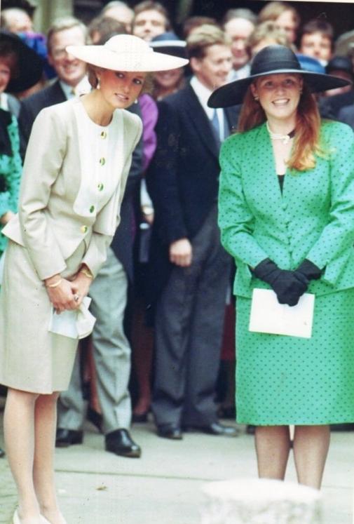 Diana e Sarah Princess Diana and Duchess of York Lady
