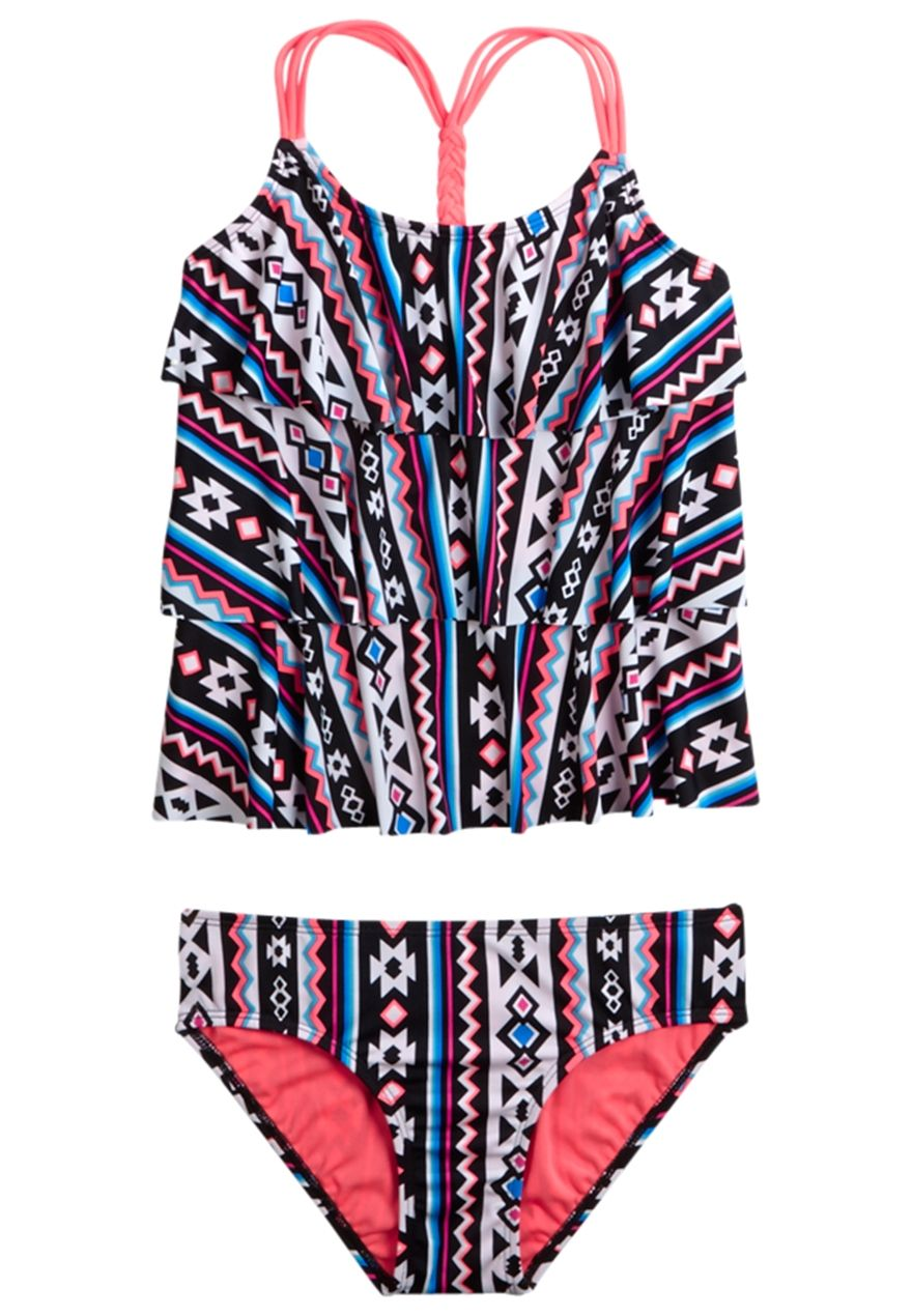 71e4f38681853 Tribal Tankini Swimsuit (original price, $35.90) available at #Maurices
