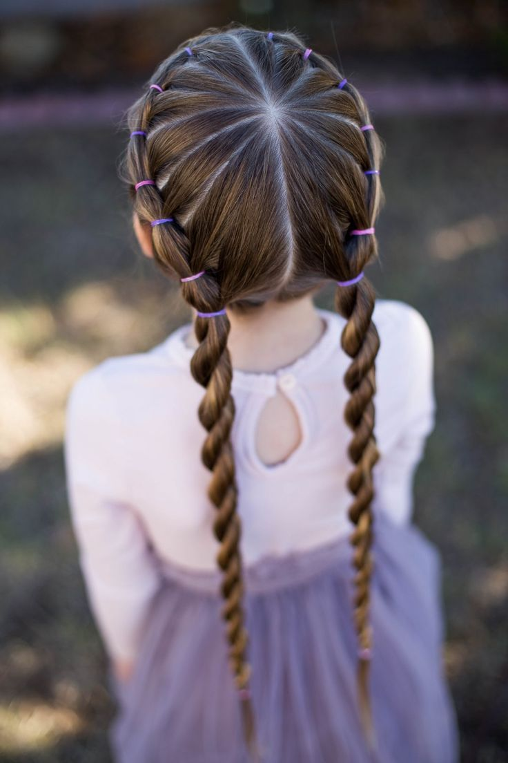Banded twist braid cute girls hairstyles children pinterest