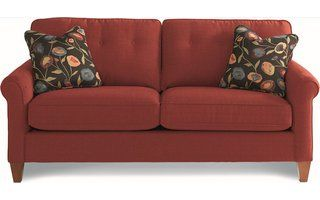 Laurel Sofa-Flame  . From the beautifully placed button accents and the curved arms to the gorgeous legs, our designers have overlooked nothing
