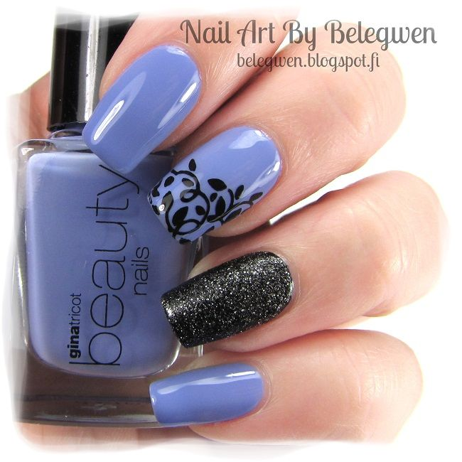 Nail Art by Belegwen: Gina Tricot Minty Blue, A England Camelot and Golden Rose 60. Stamping plate is Qgirl-014.