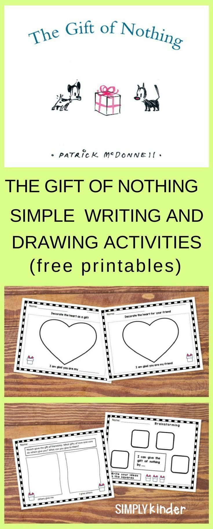 The Gift of Nothing Simple Writing and Drawing Activities