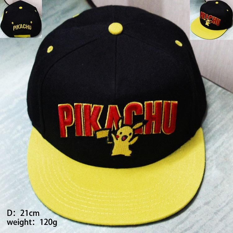 e53088cedd569 Pokémon Cartoon Pikachu Hip Hop Baseball Hat Cap Snapback  Pokémon  Cartoon   Pikachu  HipHop  Baseball  Hat  Cap  Snapback
