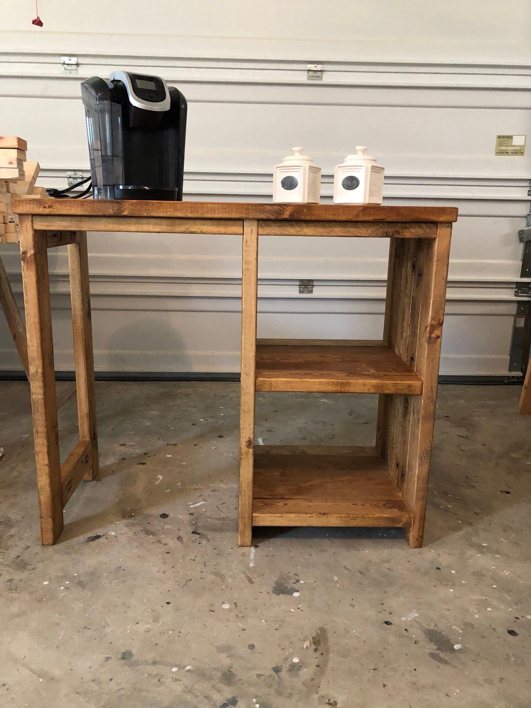 Coffee bar mini fridge farmhouse style