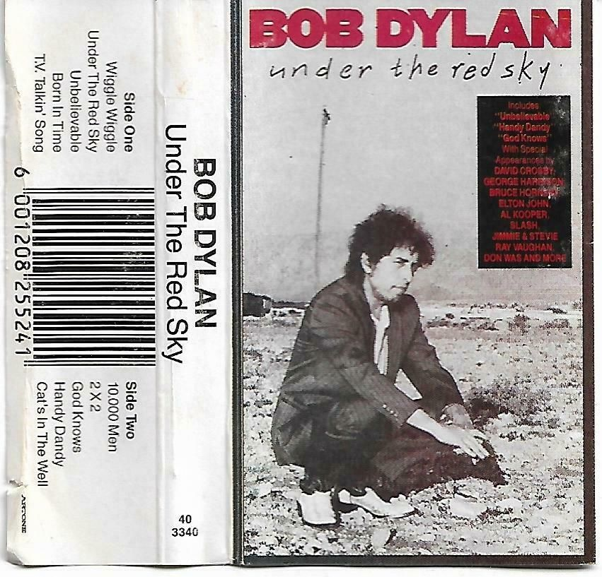 Bob Dylan Under The Red Sky Cassette Tape South Africa Edition 40 3340 Poprock Bob Dylan Songs Bob Dylan Dylan