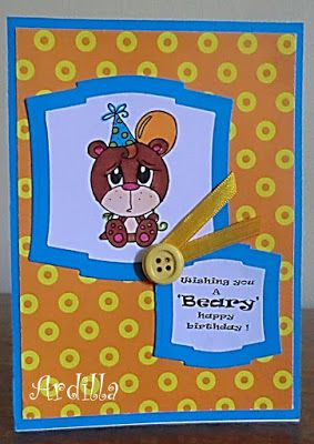 Ardilla's Papers: Beary happy birthday