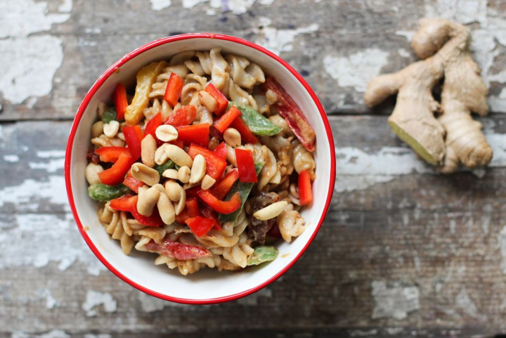 Asian Sesame Pasta Salad Recipe by Nutrition Stripped for Relish Magazine
