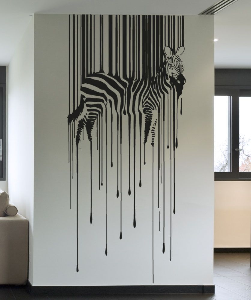 Great Vinyl Wall Decal Sticker Drippy Zebra #OS_AA1337