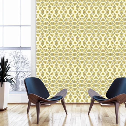 papier peint adh sif sterling moutarde le grand cirque decoclico vintage pinterest. Black Bedroom Furniture Sets. Home Design Ideas