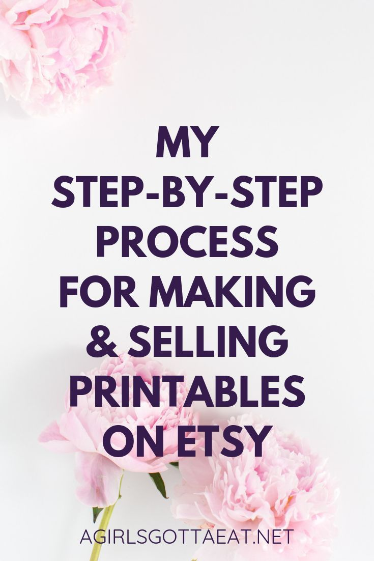 From idea to cash cow, here's every step of my process for making and selling printable digital products on Etsy. #business #etsy #printables #blogging #entrepreneur #smallbiz