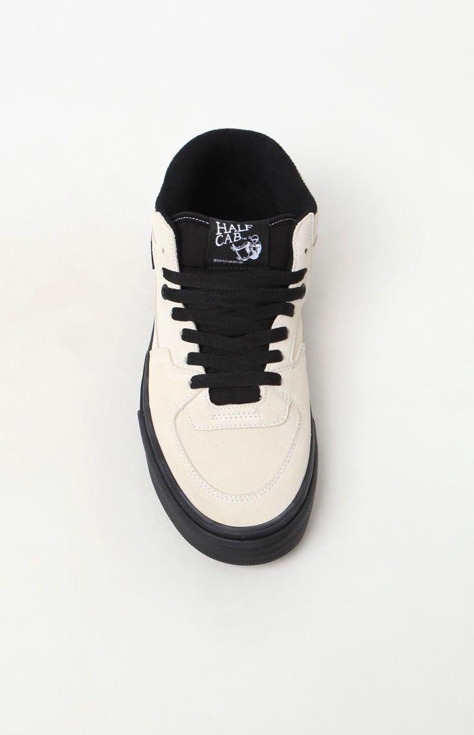55d8cc2457 Vans Half Cab Black Sole White Shoes - White Black 12