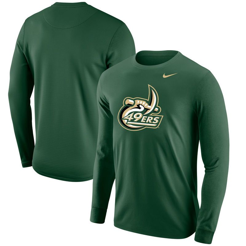 Charlotte 49ers Nike Big Logo Long Sleeve T-Shirt - Green